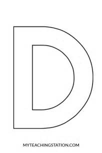 Capital Letter D Template by Letter D Craft Myteachingstation