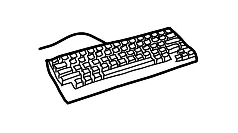 Drawing Keyboard by How To Draw A Keyboard