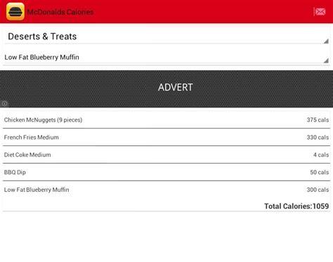 calorieking android app apk mcdonalds nutrition calculator