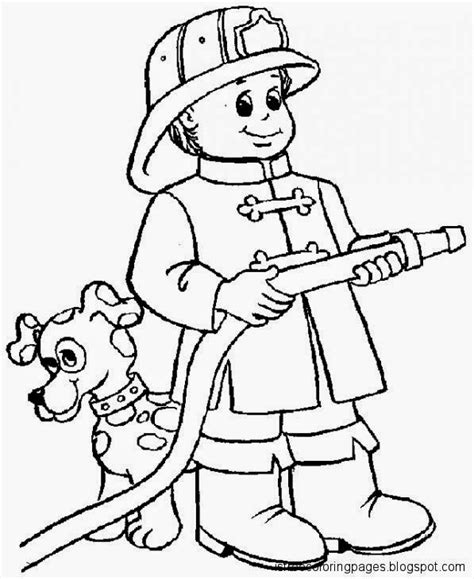 Firefighters Coloring Pages firefighters coloring pages free coloring pages