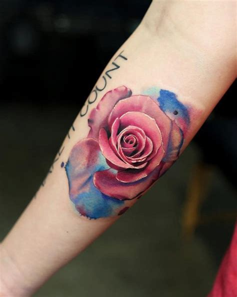 coloured rose tattoos 100 of most beautiful floral tattoos ideas mybodiart