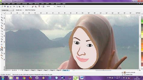 tutorial corel draw x4 edit foto tutorial coreldraw x4 merubah foto sendiri menjadi kartun