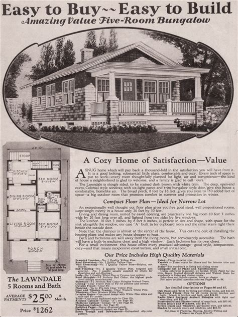 1930s bungalow floor plans montgomery ward kit house lawndale 1930 traditional