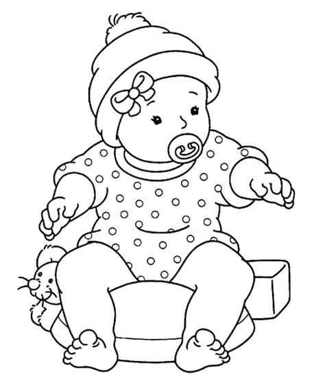 Free Baby Coloring Pages baby color pages az coloring pages