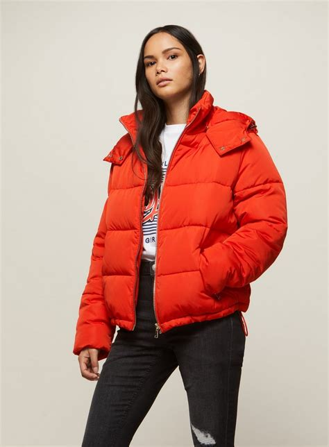 Hooded Puffer Jacket oversized hooded puffer jacket miss selfridge