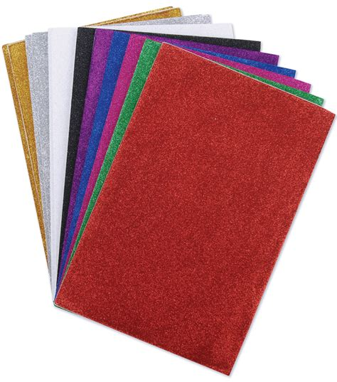 darice glitter sticky back foam sheets 6 quot x9 quot 12 pkg