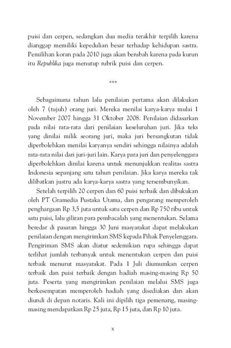 Harga Buku Novel Sastra Indonesia Terbaik by Jual Buku 20 Cerpen Indonesia Terbaik 2009 Oleh Anugerah