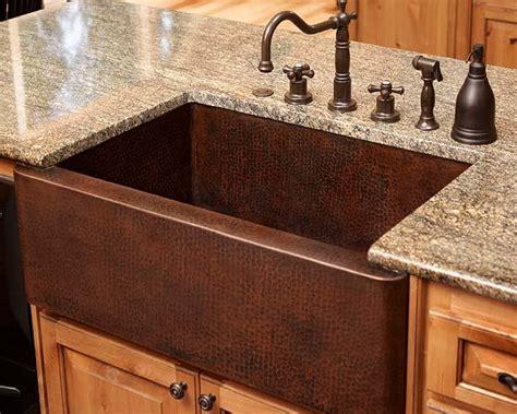 Brown Farmhouse Sink by Copper Kitchen Sinks Hac0