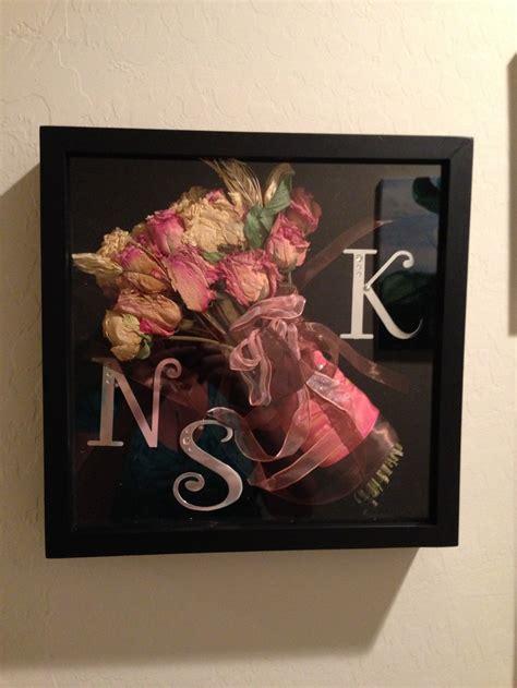 Wedding Bouquet In Shadow Box by Wedding Bouquet Shadow Box Peacock Theme
