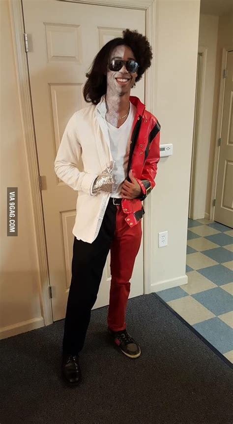 diy michael jackson costume this made the best michael jackson costume i seen 9gag