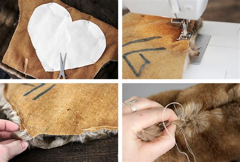 diy faux fur pillow 187 the merrythought