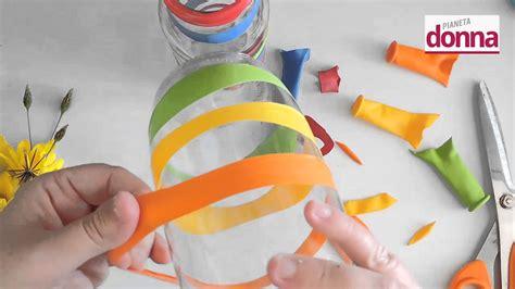 vasi con bottiglie di plastica vasi decorati con bottiglie di passata di pomodoro