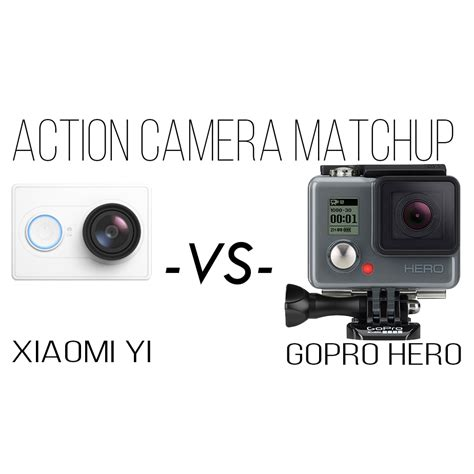 Gopro Yi xiaomi yi vs gopro comparison