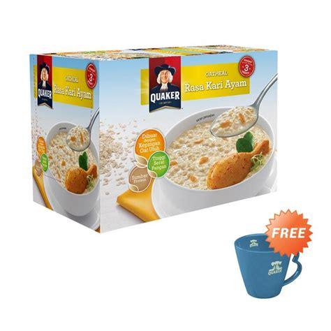 Quaker Oat Meal Soto Ayam Dan Kari Ayam jual quaker oatmeal kari ayam instant cereal 12 pcs