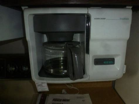 black decker space saver cabinet coffee maker to