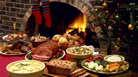 christmas dinner top quality wallpapers