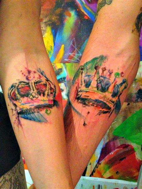 couple tattoos ideas designs 50 meaningful crown tattoos watercolor and tatting