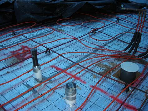 hydronic radiant floor heating in post tension slab on