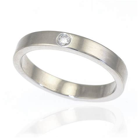 eheringe silber mit diamant wedding ring in sterling silver by lilia nash