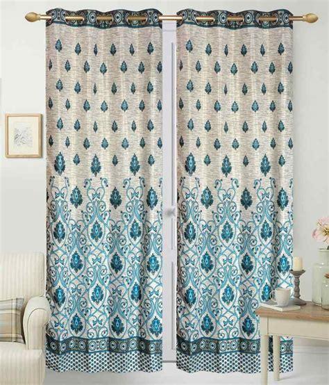 fancy door curtains fabbig blue jaquard fancy door curtains set of 3 buy