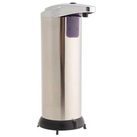 Stainless Steel Sensor Automatic Soap Dispenser Sabun Otomatis automatic soap liquid dispenser stainless steel free ir sensor touchless alex nld