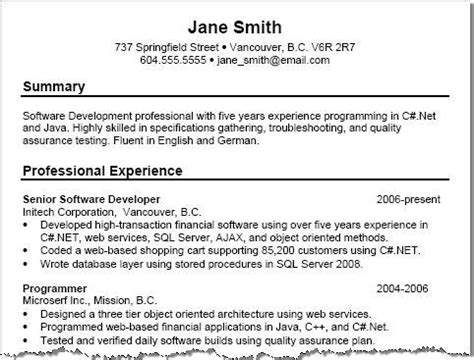 Resume Overview by Exle Of Resume Summary Resume Templates