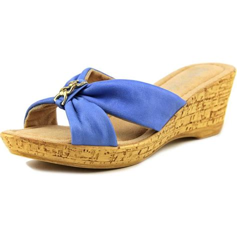 blue wedge sandals vita vita aquila leather blue wedge
