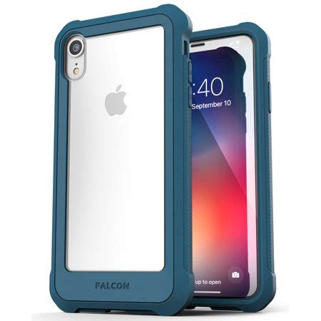 iphone xr clear protective transparent cover falcon teal walmart