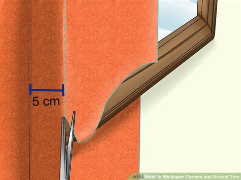 wallpaper edge trim how to wallpaper corners and around trim 11 steps with