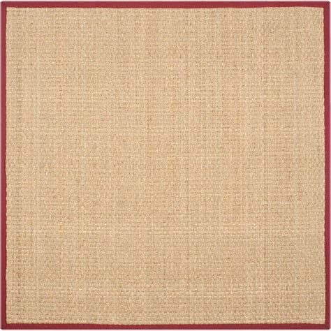 area rugs 8 ft safavieh fiber beige 8 ft x 8 ft square area rug nf114d 8sq the home depot