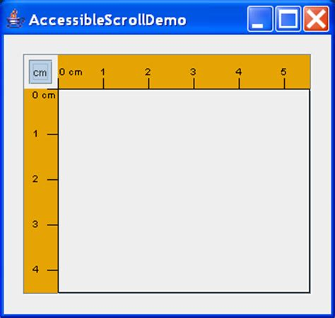 java swing scrollbar accessible scroll demo scrollbar 171 swing jfc 171 java