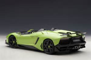 Green Lamborghini Aventador Lamborghini Aventador J Roadster Green 1 18 Autoart 74677
