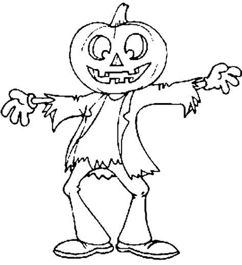 coloring page world jack o lantern scarecrow