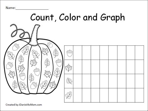 pumpkin counting coloring pages count color and graph pumpkin sheets