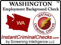 background check washington washington employment background check criminal data