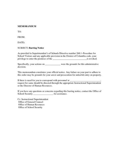 trespass notice template cease and desist trespassing letter template sles