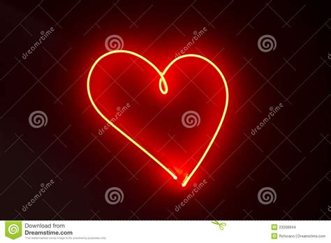 heart shape red neon lights stock images image