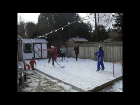 easy backyard rink easy backyard rink how to make it