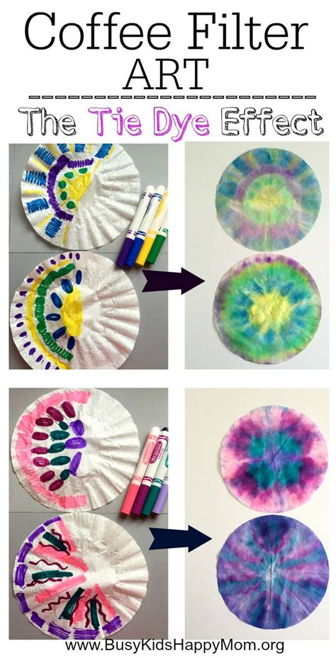 How To Make Tie Dye Paper - how to tie dye coffee filters for busy happy
