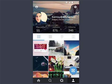 instagram layout help instagram concept material design by mohamed kerroudj