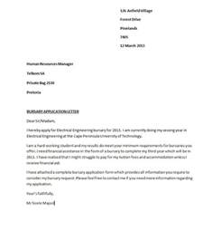 Cover Letter For Bursary Application Exles bursary application guide 2013 bursary application letter