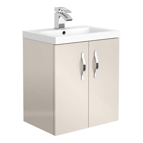 Edwardian Vanity Unit by Apollo2 505mm Gloss Wall Hung Vanity Unit