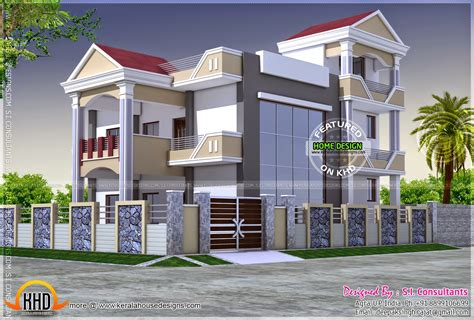 3d House Plans Indian Style by 3d View And Floor Plan Kerala Home Design And Floor Plans
