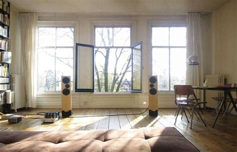 living room yoga old apartment with wooden floor and natural light