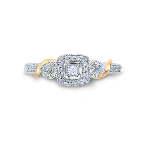 two tone promise rings wedding promise