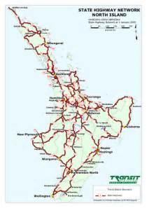 state road map road map of island new zealand deboomfotografie