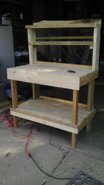 pallet garden work bench 52 best images about garden work bench on pinterest