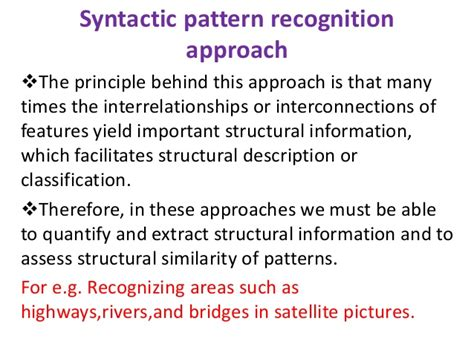 pattern recognition statistical structural and neural implementation of different pattern recognition algorithm