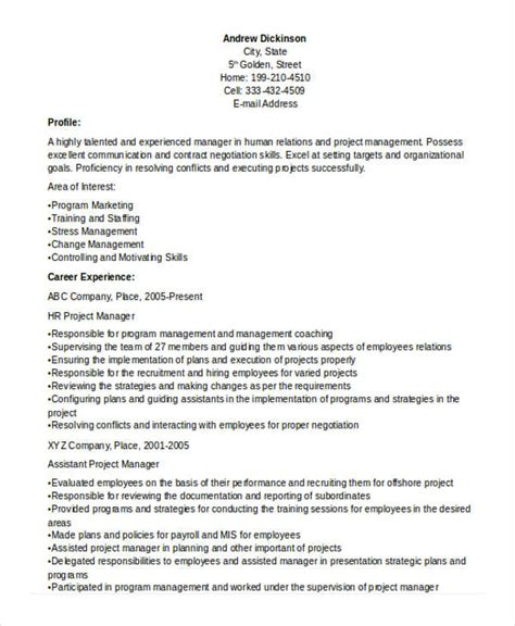 hr manager resume format doc 26 manager resume templates pdf doc free premium templates