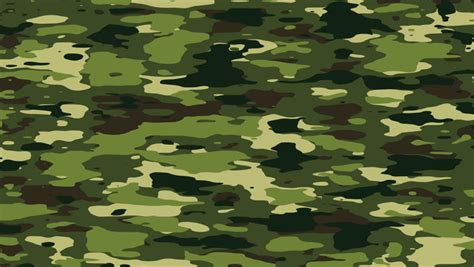 color camo camouflage pattern background loop in jungle forest camo